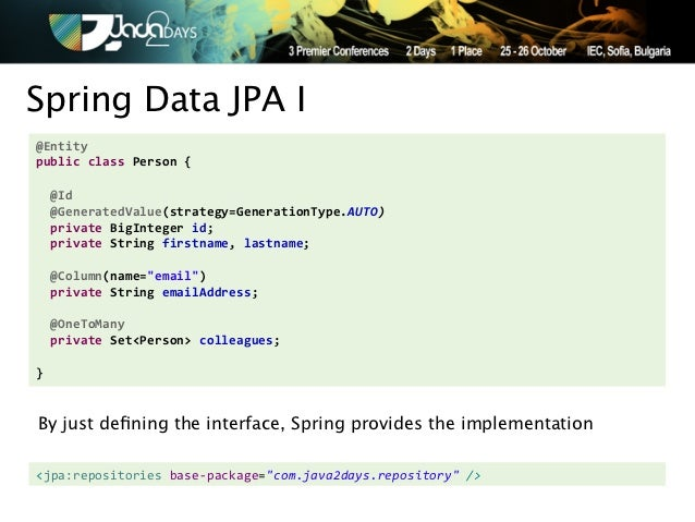 Taming NoSQL with Spring Data