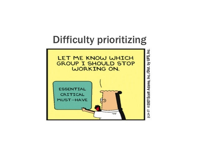Difficulty prioritizing