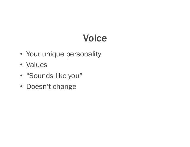 Tone • Emotional attitude • How you sound in different situations/contexts/settings