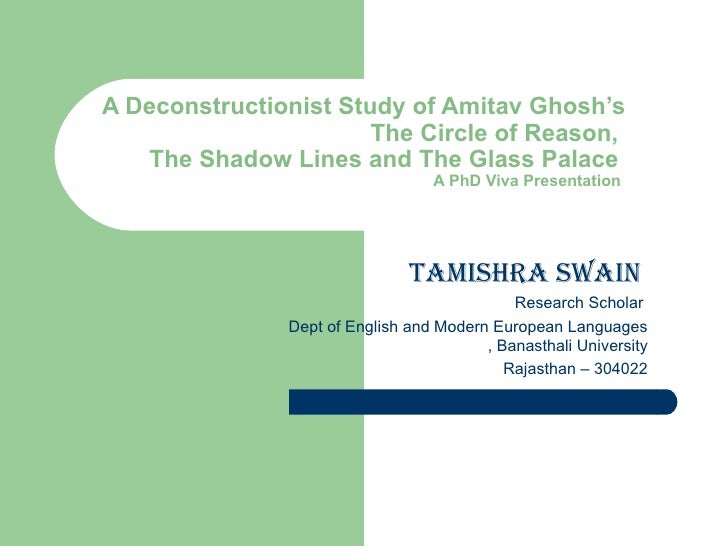 dissertation on amitav ghosh