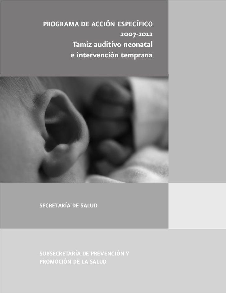 Tamiz Auditivo Neonatal