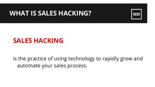 Sales Hacking for Startups by @TammyCamp of @500Startups Slide 2