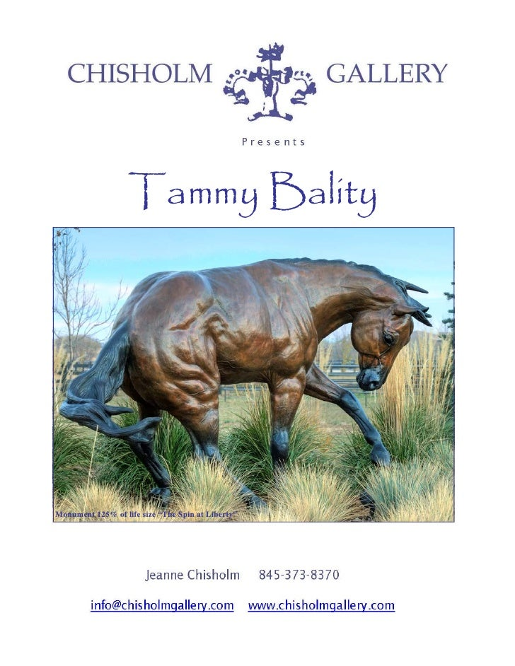 Tammy Bality, Sculptures, presented by Chisholm Gallery, LLC