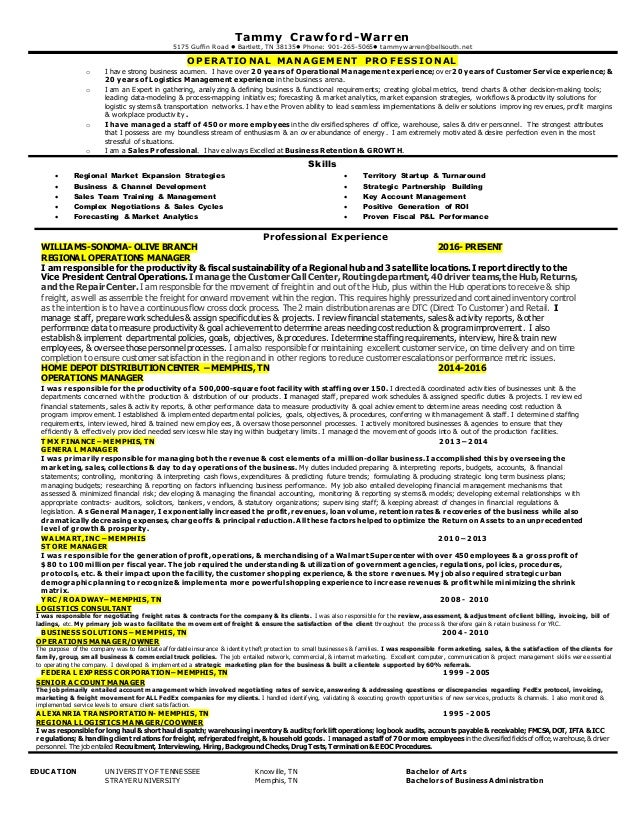 Tammy Warren Resume