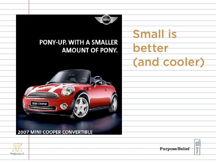 Small is better (and cooler)                          40     Purpose/Belief