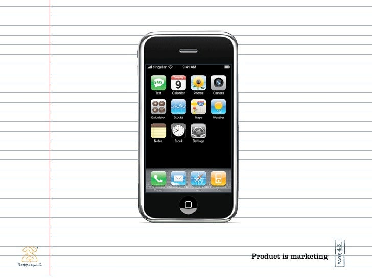 43 Product is marketing