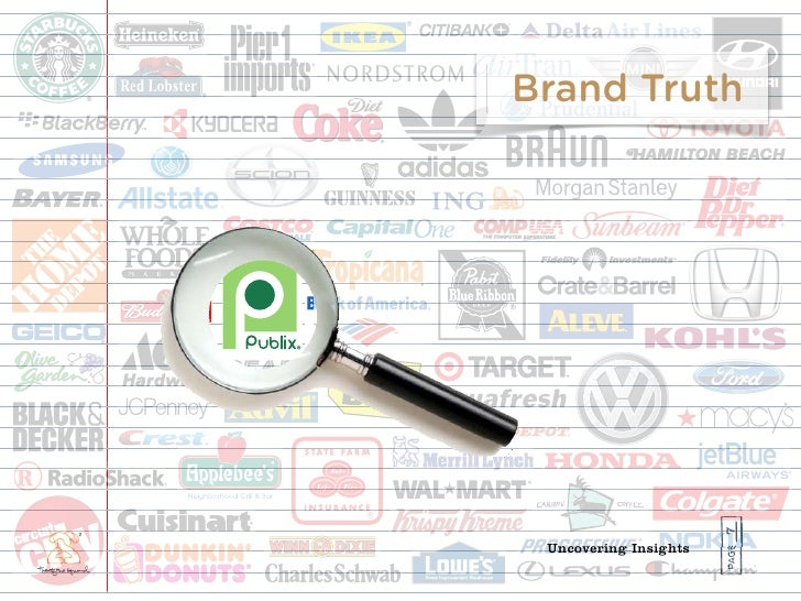 Brand Truth                            7  Uncovering Insights
