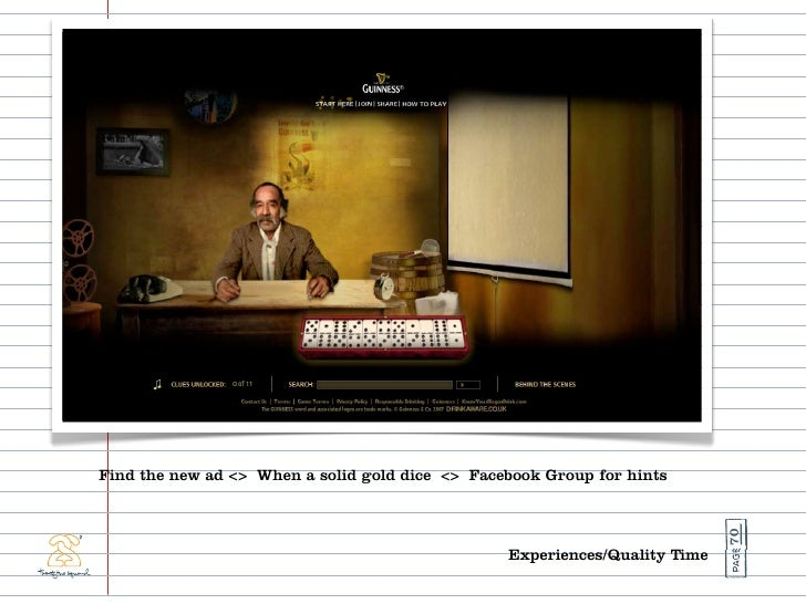 Find the new ad <> When a solid gold dice <> Facebook Group for hints                                                     ...