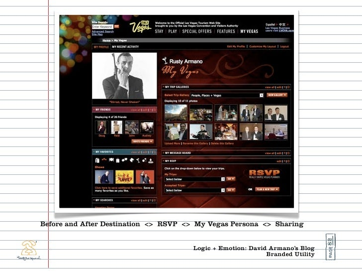 Before and After Destination <> RSVP <> My Vegas Persona <> Sharing                                                       ...