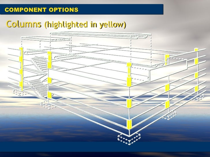 COMPONENT OPTIONS Columns  (highlighted in yellow)