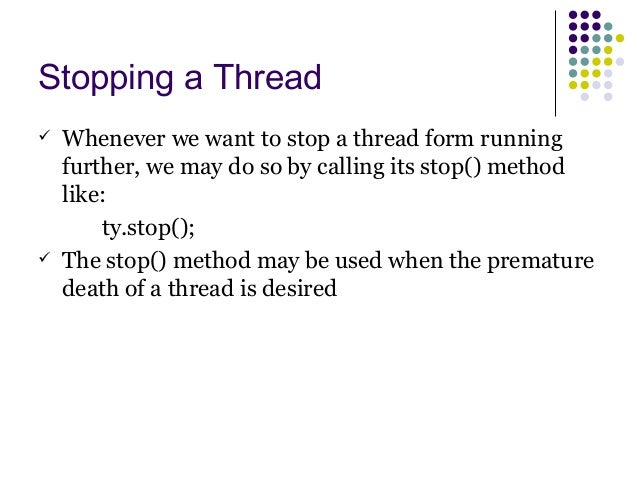 Threads: concurrent programming.