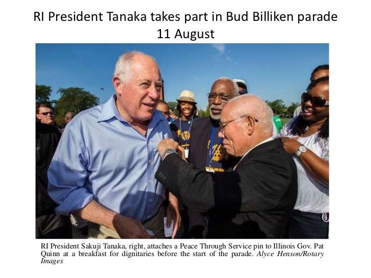 RI President Tanaka takes part in Bud Billiken parade                     11 August RI President Sakuji Tanaka, right, att...