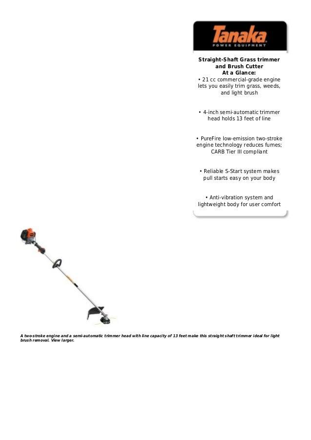 Tanaka tcg22 easslp 21.1cc 2 stroke gas powered straight