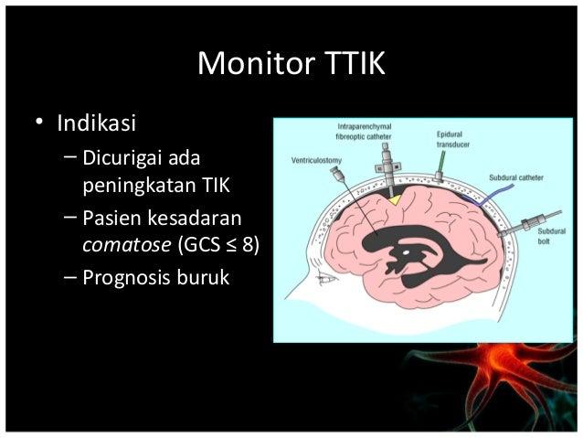 • Pencitraan (imaging) CT scan kepala tanpa kontras dapat menunjukkan efek  massa dengan melihat adanya : - sulci dan gy...