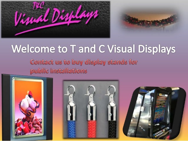 T and C Visual Displays offers a categorized collection of displays and display stands for commercial purposes. We offer d...