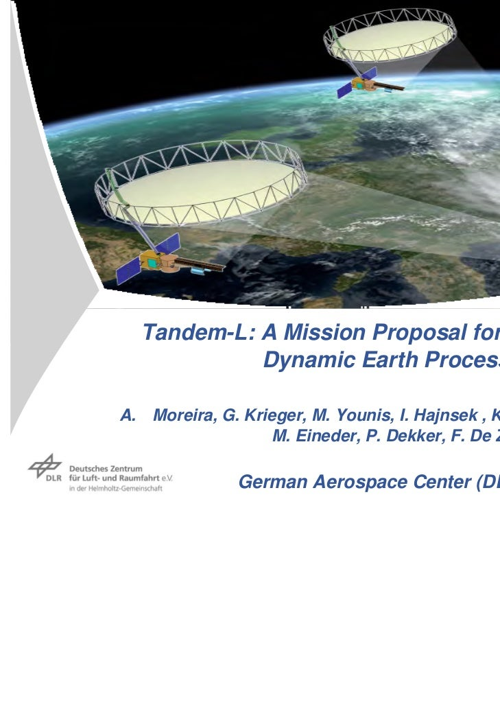 Tandem-L: A Mission Proposal for Monitoring            Dynamic Earth ProcessesA. Moreira, G. Krieger, M. Younis, I. Hajnse...