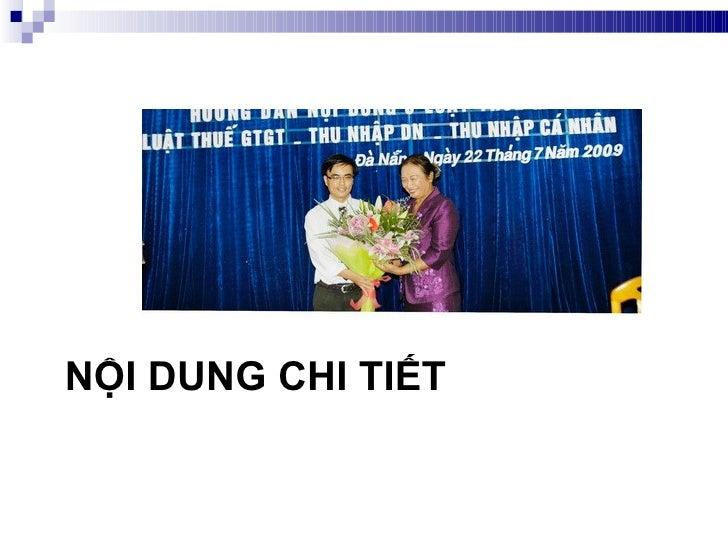 NỘI DUNG CHI TIẾT