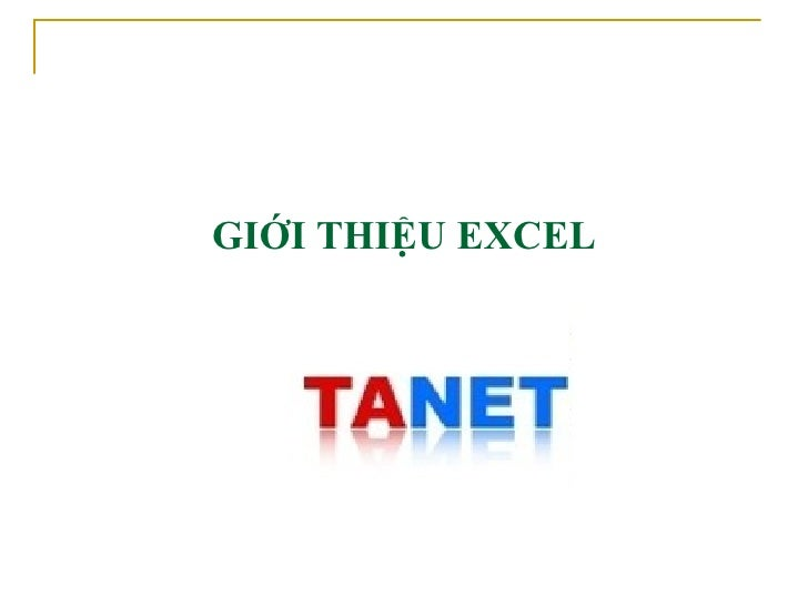 TANET - On thi Cong Chuc Thue Excel