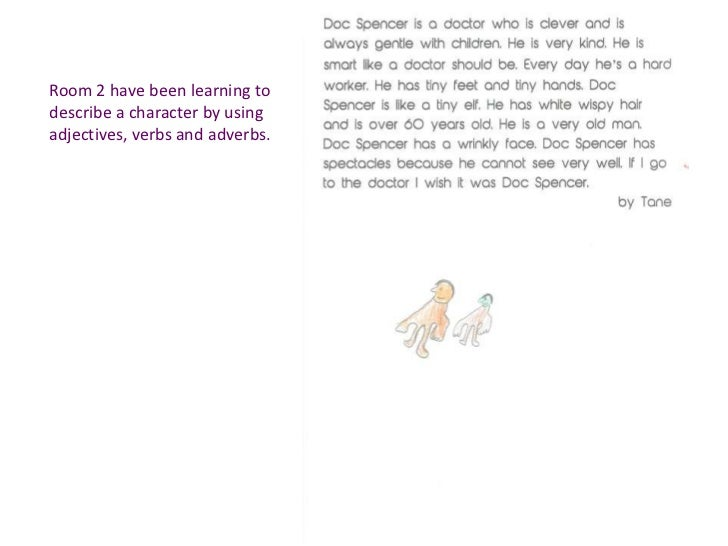 Room 2 have been learning todescribe a character by usingadjectives, verbs and adverbs.