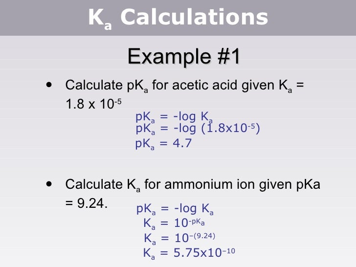 determine the pka value for paracetamol Drug absorption, distribution and elimination  the value of ka similarly, one could derive kb for a weak base boh  from the pka, one can calculate the.