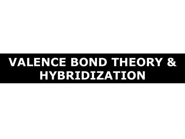 VALENCE BOND THEORY & HYBRIDIZATION