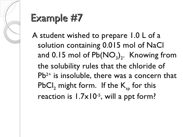 solubility equilibrium Between the solid phase and the dissolved solute in solution exists for a  hypothetical salt a2b, the solubility equilibrium and equilibrium constant are  expressed.