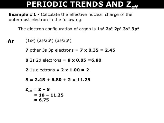 Argon zeff of argon zeff of argon pictures honors chemistry worksheet on periodic table urtaz Image collections