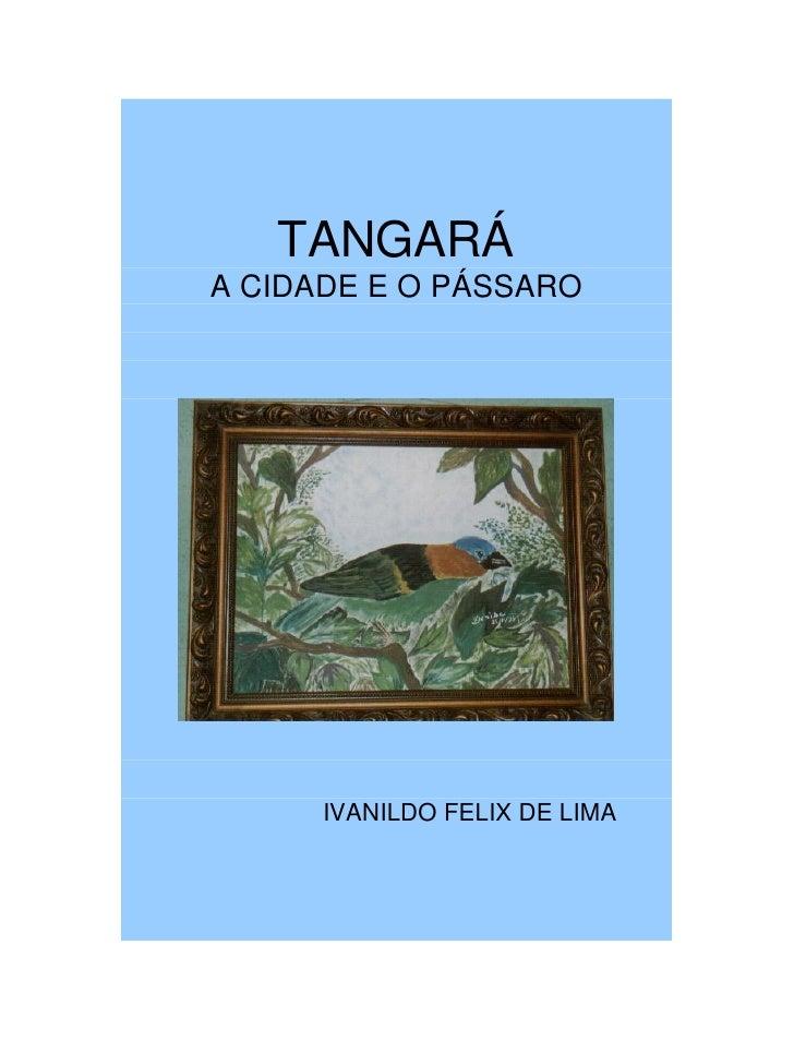 TANGARÁA CIDADE E O PÁSSARO      IVANILDO FELIX DE LIMA