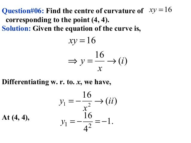 Tangent and curvature