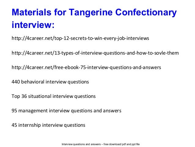 tangerine confectionary interview questions and answers rh slideshare net tangerine part 3 study guide answers tangerine book study guide answers