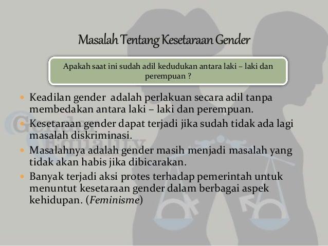 Tanggung jawab agama dan kesetaraan gender