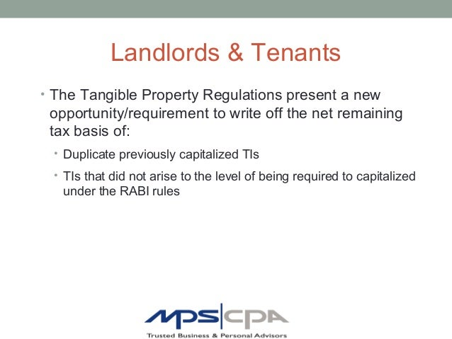 Tangible Property Regulations An Mps Cpa Presentation