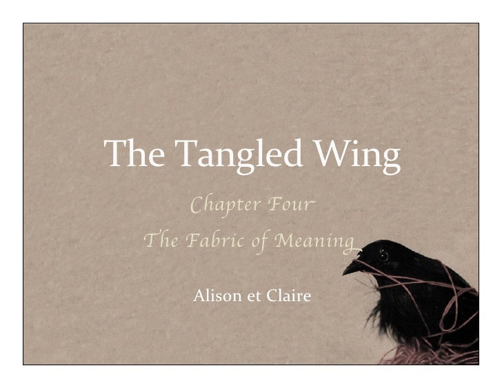 The	  Tangled	  Wing      Chapter Four  The Fabric of Meaning      Alison	  et	  Claire