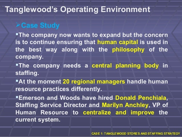 "tanglewood case study Tanglewood is a chain of general retail stores featuring items such as clothing,   on page 12 of tanglewood case book (under ""organisational culture and value"" ,  this case study is about job dissatisfaction and its high turnover rate."
