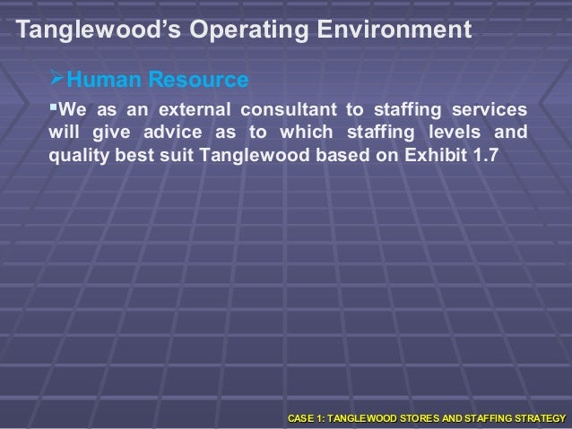tanglewood overstaff or understaff Recruitment & selection introduction tanglewood is a chain of general  tanglewood answer for case study chapter1  overstaff or understaff in our.