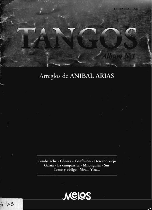 Tango album n.1 arreglos de anibal arias (g183)