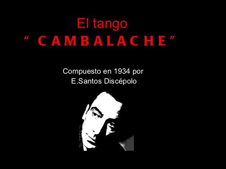Tango Cambalache 2011
