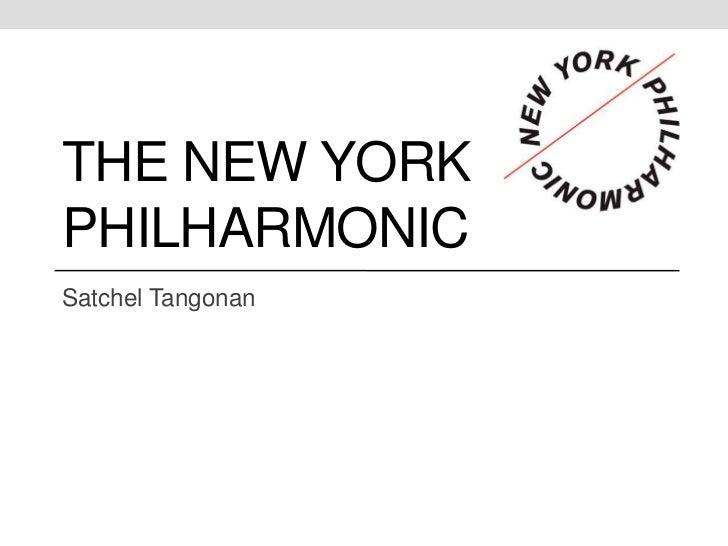 THE NEW YORKPHILHARMONICSatchel Tangonan