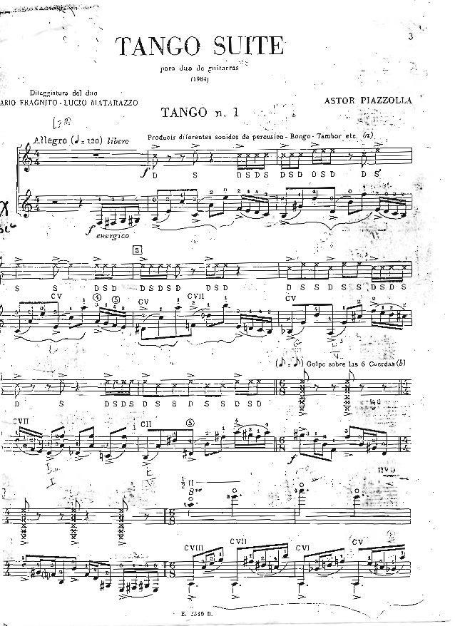 Tango suite   piazzolla