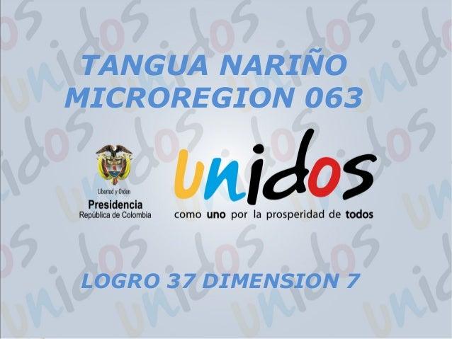 LOGRO 37 DIMENSION 7 TANGUA NARIÑO MICROREGION 063