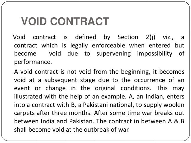 Difference Between Void Contracts And Void Agreement