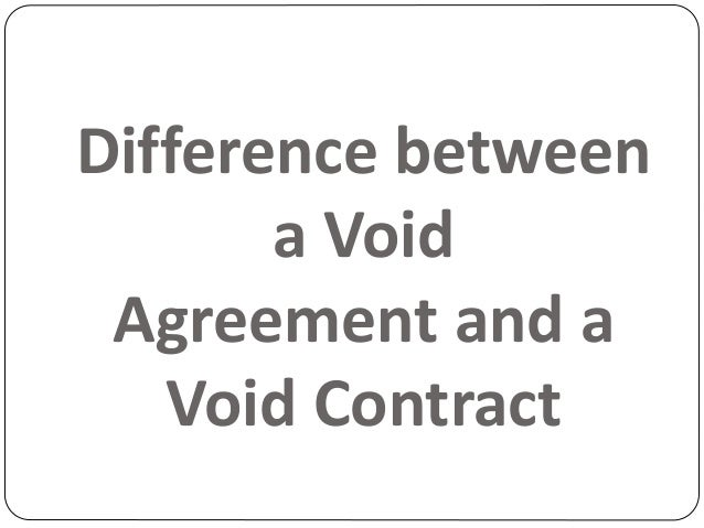 Difference between void and voidable contract