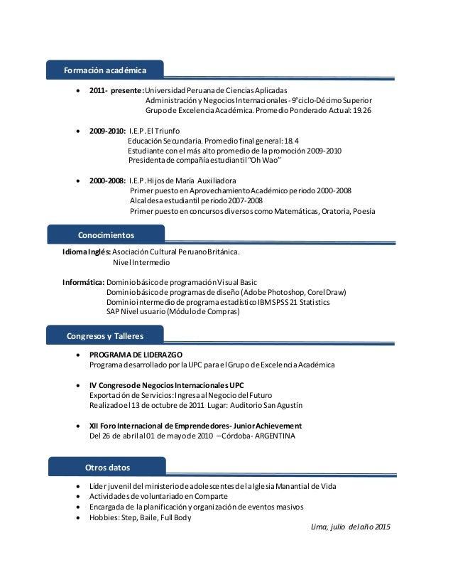 CV por logros