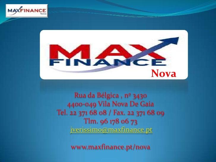Nova<br />Rua da Bélgica , nº 3430<br />4400-049 Vila Nova De Gaia<br />Tel. 22 371 68 08 / Fax. 22 371 68 09<br />Tlm. 96...