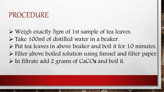 acidity in tea investigatory project