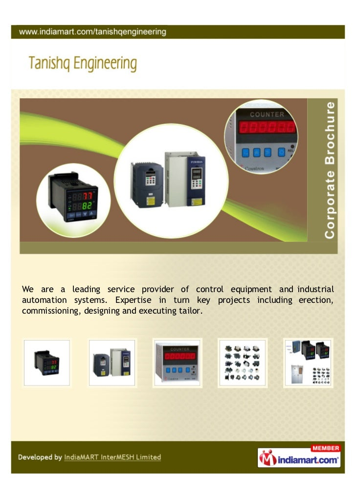 We are a leading service provider of control equipment and industrialautomation systems. Expertise in turn key projects in...