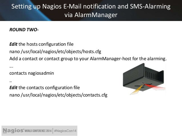 Nagios conference 2014 tanja lewit nagios and kentix for Nagios email notification template