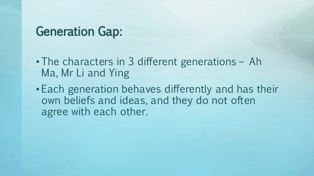 "generation gap essay in french Free generation gap fear in the damp and dark gap the usual signification of the french feminist's gap transformed by essay ""my generation."