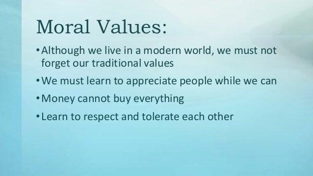 money vs moral values