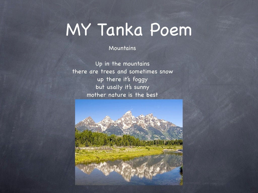 Tanka poems for Tanka poem template